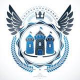 Heraldic emblem isolated vector illustration. Royalty Free Stock Photos