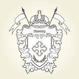 Heraldic emblem - royal coat of arms with imperial symbols Royalty Free Stock Photos