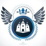 Heraldic emblem  vector illustration. Royalty Free Stock Images
