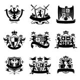 Heraldic emblems black Royalty Free Stock Photo