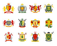 Heraldic Emblems Set Royalty Free Stock Photo