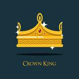 Heraldic emperor or king, monarch crown Royalty Free Stock Photography