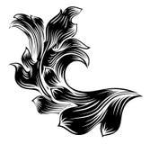 Heraldic Floral Filigree Pattern Scroll Design. A heraldic floral filigree pattern scroll decorative design Stock Images