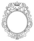 Heraldic Frame Royalty Free Stock Images