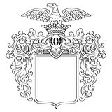 Heraldic Frame Royalty Free Stock Photography