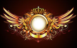 Heraldic golden frame Royalty Free Stock Photos