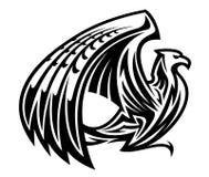 Heraldic griffin. Bird mascot in retro style Royalty Free Stock Photography