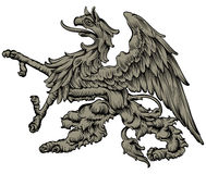 Heraldic griffin Royalty Free Stock Images