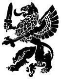 Heraldic griffin Stock Images
