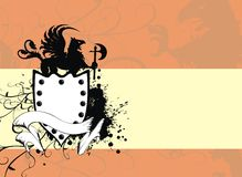 Heraldic gryphon background. Heraldic gryphon coat of arms background in format stock illustration