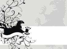 Heraldic gryphon coat of arms 2. Heraldic gryphon coat of arms in vector format stock illustration