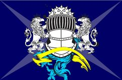 Heraldic gryphon coat of arms background2 Royalty Free Stock Photography