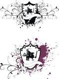 Heraldic gryphon coat of arms set 2. Heraldic gryphon coat of arms set in vector format stock illustration
