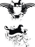 Heraldic gryphon coat of arms set 3. Heraldic gryphon coat of arms set in format royalty free illustration