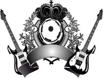 Heraldic Guitar Royalty Free Stock Photos