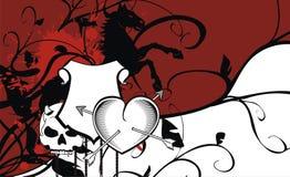 Heraldic heart arrows crest background6 Stock Images