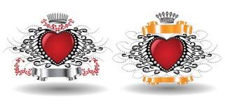 Heraldic hearts Royalty Free Stock Image
