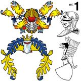 Heraldic Helmets vol.1 stock illustration