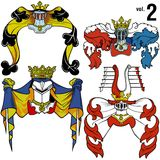 Heraldic Helmets vol.2 Royalty Free Stock Photo