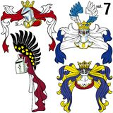 Heraldic Helmets vol.7 Royalty Free Stock Image