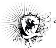 Heraldic horse coat of arms 5. Heraldic horse coat of arms in format vector illustration