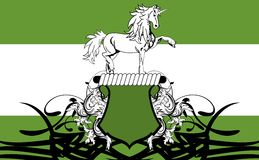 Heraldic horse coat of arms Stock Photography