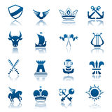 Heraldic icon set Royalty Free Stock Image