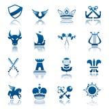 Heraldic icon set Royalty Free Stock Image