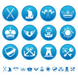 Heraldic icons Stock Photos