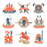 Heraldic Knight Emblems Logos Royalty Free Stock Images