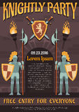 Heraldic Knight Poster Stock Photography