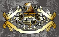 Heraldic label Stock Photography