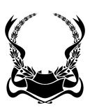 Heraldic laurel wreath Royalty Free Stock Photo