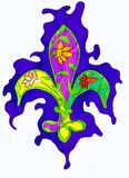 Heraldic lily royalty free illustration
