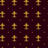 Heraldic lily pattern vector Stock Photos