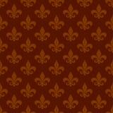 Heraldic lily seamless pattern background Royalty Free Stock Image