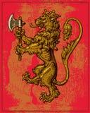 Heraldic Lion Royalty Free Stock Photos