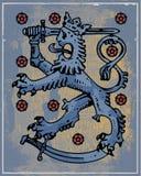Heraldic lion Stock Photography