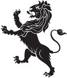 Heraldic Lion. Black lion ornament in s Royalty Free Stock Image