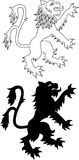 Heraldic lion Stock Photo