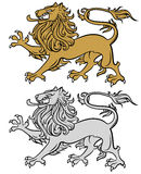 Heraldic lion Royalty Free Stock Photos