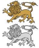 Heraldic lion. Lion illustration isolated on white, heraldry style Royalty Free Stock Photos