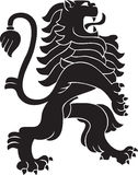 Heraldic Lion. Black lion ornament in vectors Stock Images