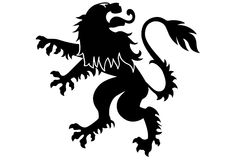 Heraldic Lion. Black lion ornament in vector format Royalty Free Stock Photos