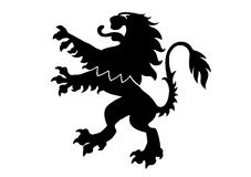 Heraldic Lion. Black lion ornament in vector format Royalty Free Stock Photo