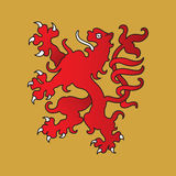 Heraldic lion Royalty Free Stock Images