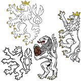 Heraldic Lion Royalty Free Stock Image