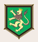 Heraldic lion crest Royalty Free Stock Photo