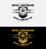 Heraldic Lion Crest Logos Vol3 Royalty Free Stock Photos
