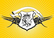 Heraldic lion head coat of arms background3 Stock Photography